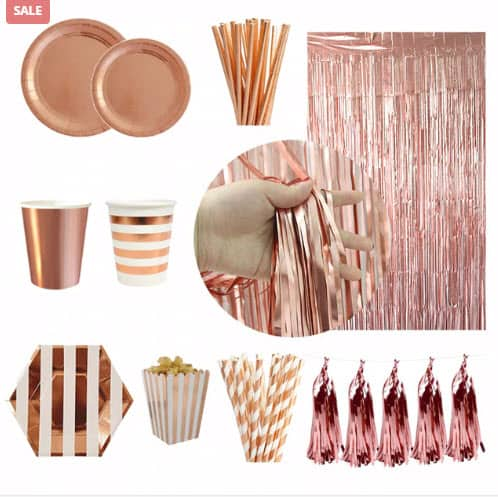 Rose Gold Tableware Decoration