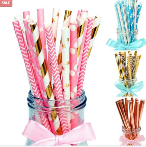Colorful Paper Drinking Straws
