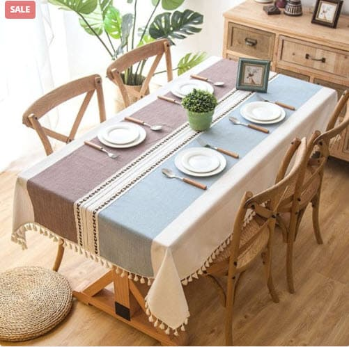 Linen Tablecloth With Tassels