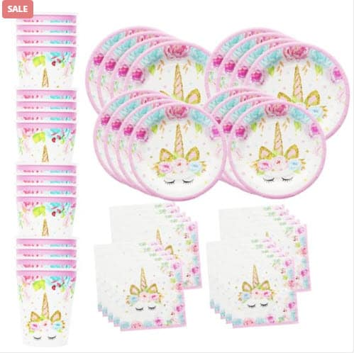 Top 50 Party Accessories: Set Of Unicorn Party Supplies