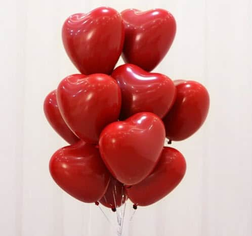 Top 50 Party Accessories: Heart-Shaped Latex Balloons